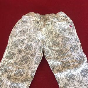 Vigoss Bottoms - Vigoss White With Black & Light Blue pattern pants